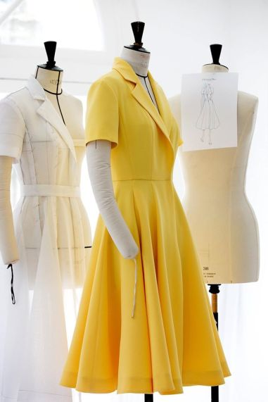 Kirsten Dunst Cannes Film Festival 2016 Dior Yellow Dress (2)