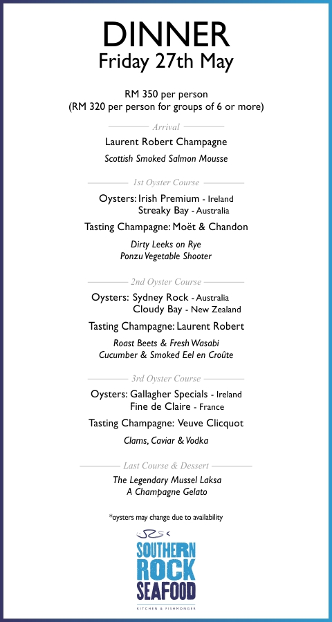 Masterclass- Friday at SouthernRockSeafood