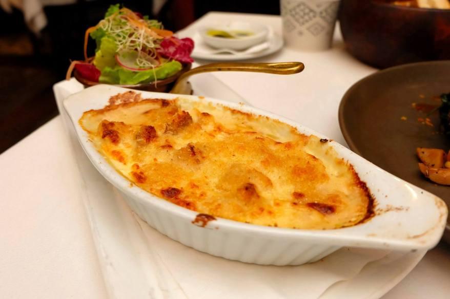 "Baccala Al Forno - RM88.00 -Cod fish ""Bacalla"" with potato & onion gratin with parmigiano cheese"
