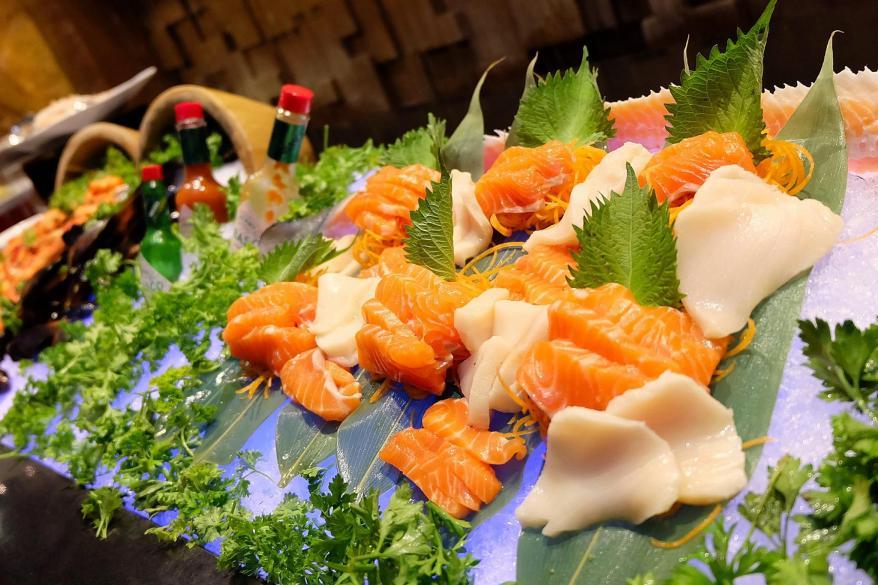 Lots of sashimi