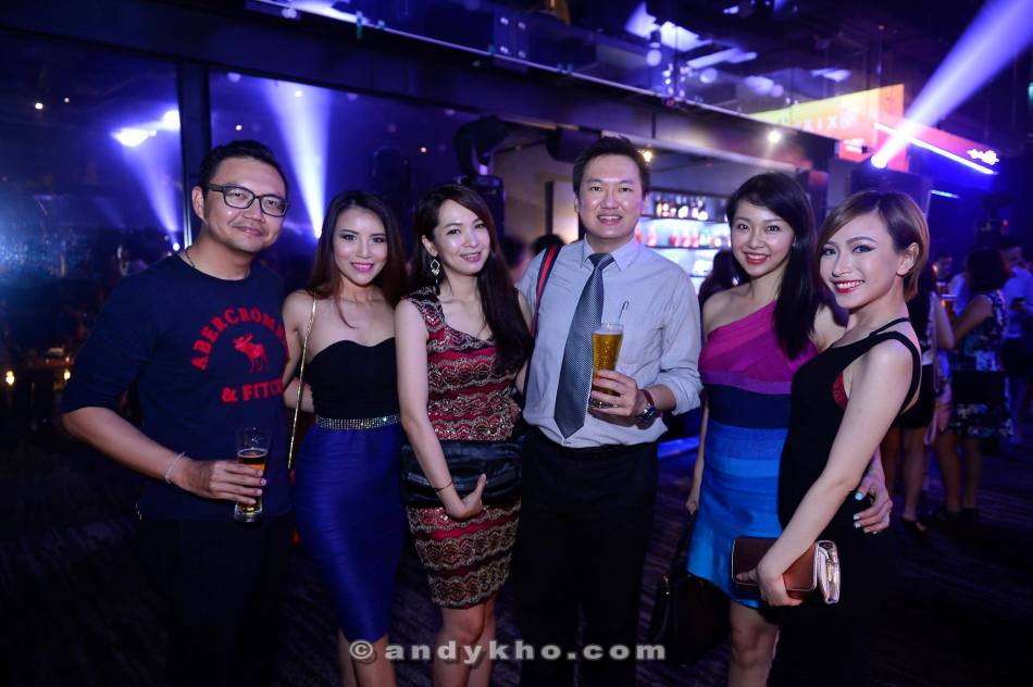 Me and the girls with photographer Michael Yeoh from Image ROM who shot the (most memorable) jacuzzi photo with the FHM Girl Next Door finalists that I use for my What's App profile pic