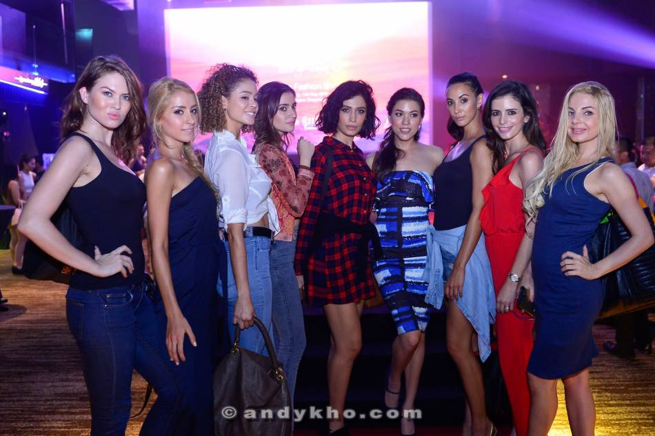 The models after the show