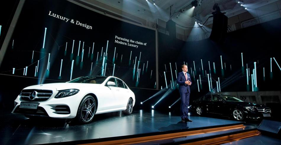 Mark Raine, Vice President, Sales & Marketing at the Mercedes-Benz E-Class Launch