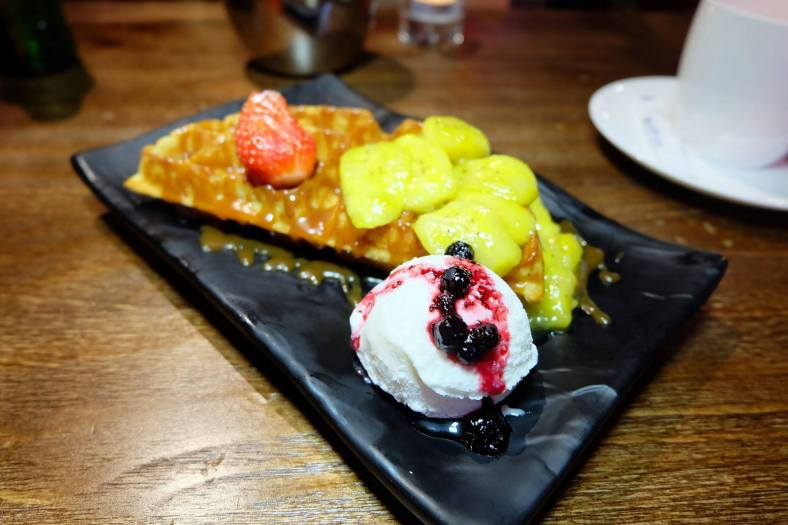 Waffles with Caramelised Butter Scotch and Ice Cream - RM20.00