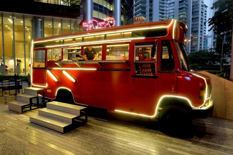 Bang Bang Baller Bar is an old mini bus which has been converted into a bar