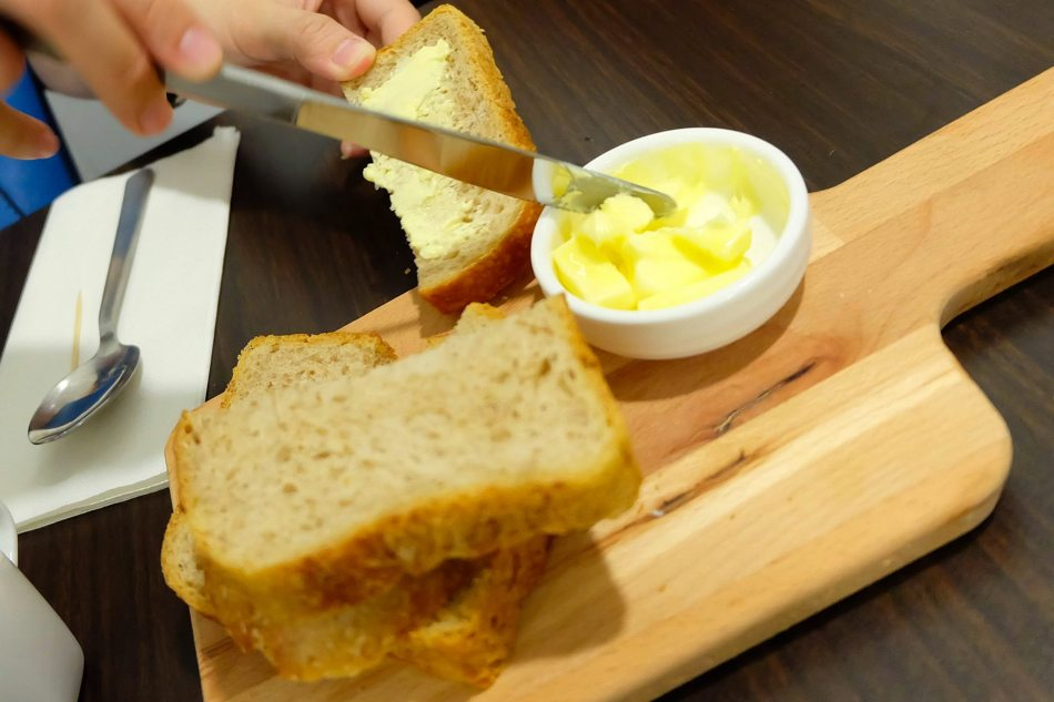 Sourdough toast with butter