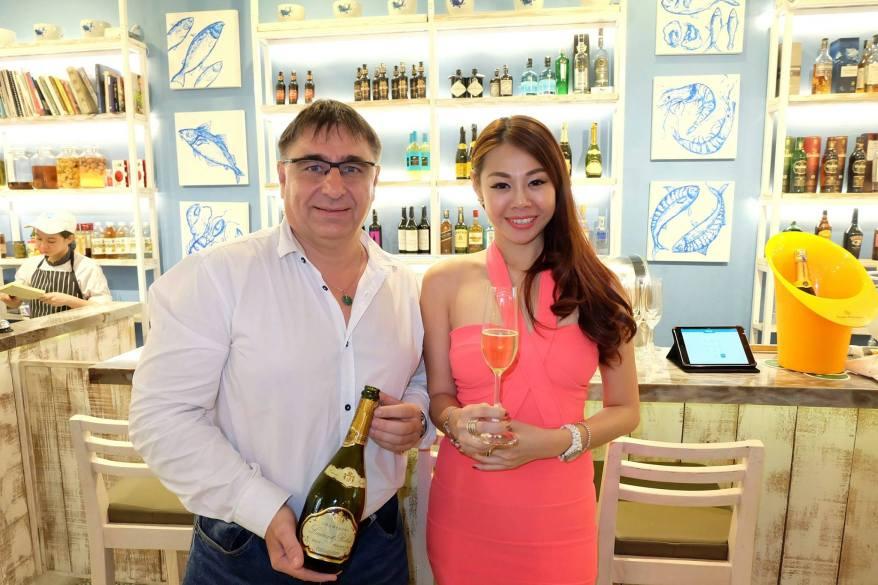 Evonne with Laurent Robert from France, the maker of Laurent Robert champagne!