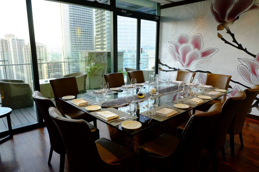 The restaurant has two (2) private dining rooms and an upper deck for larger functions. Pictured here is the smaller meeting room.