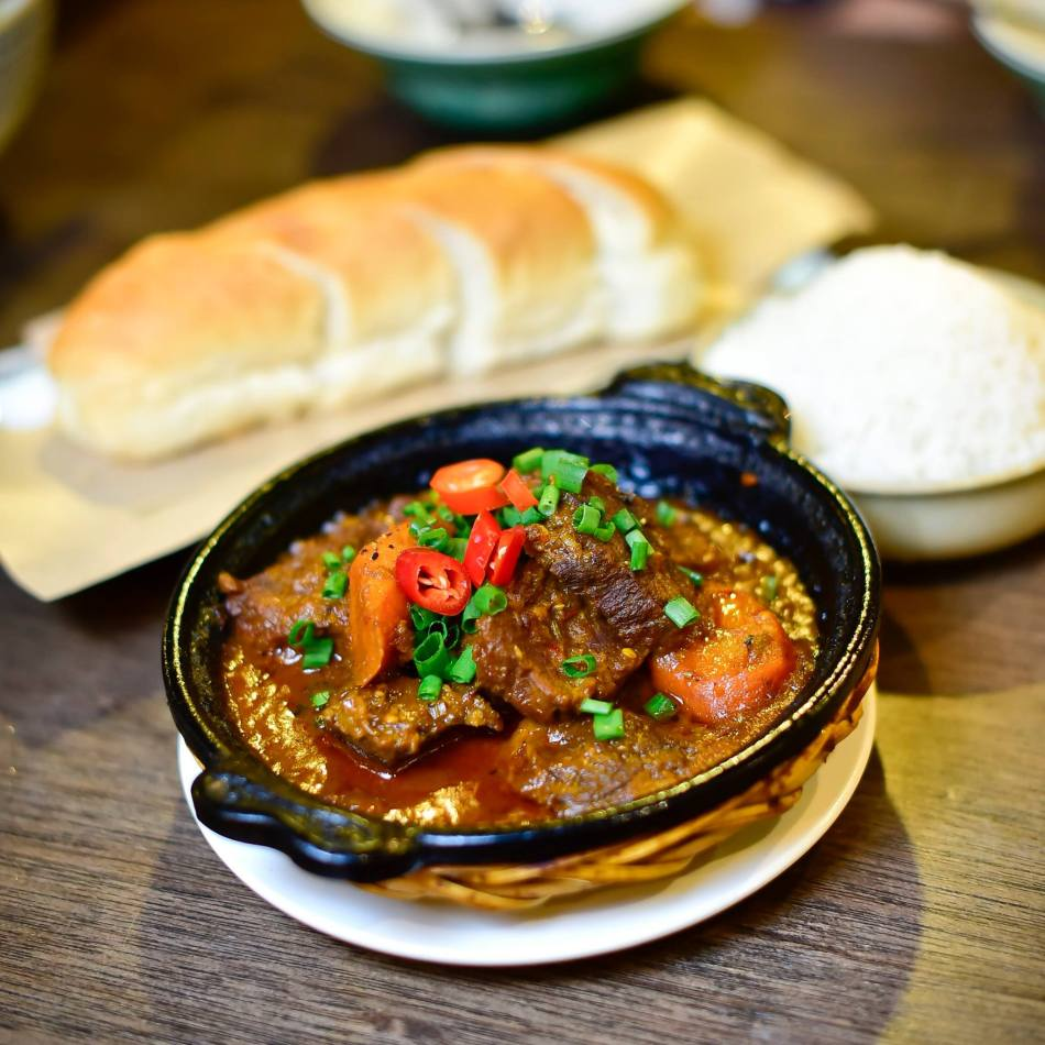 Vietnamese Beef Stew which comes with either baguette or rice