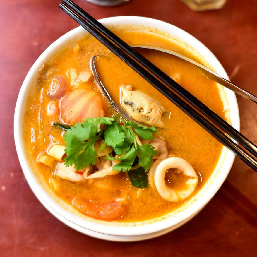 Seafood tom yum!