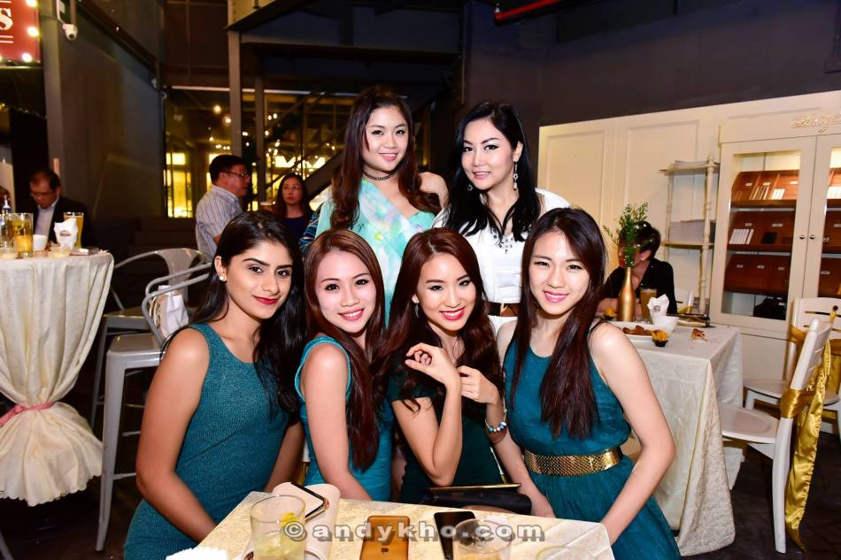 Some pretty Miss Petite Malaysia finalists and the winner were also present at the cocktail