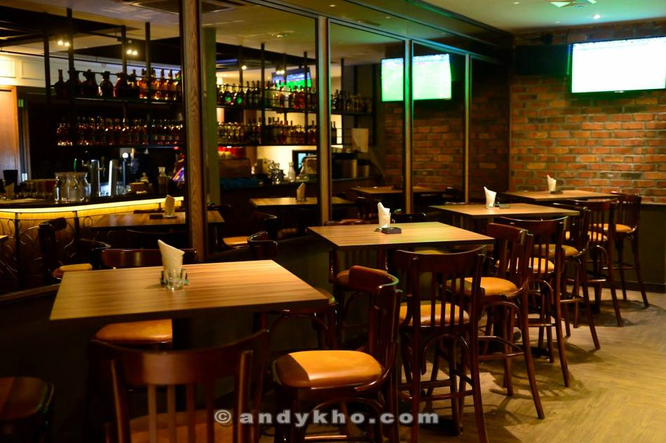The low tables section inside the establishment