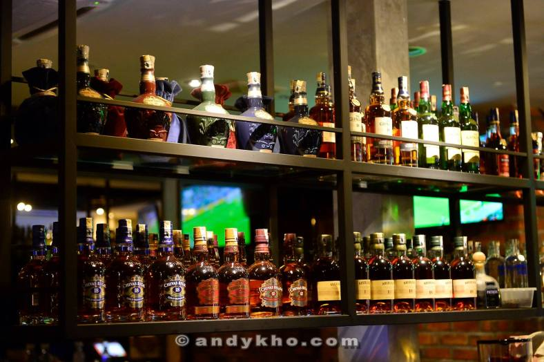 There's a great selection of liquors available including single malt whiskies
