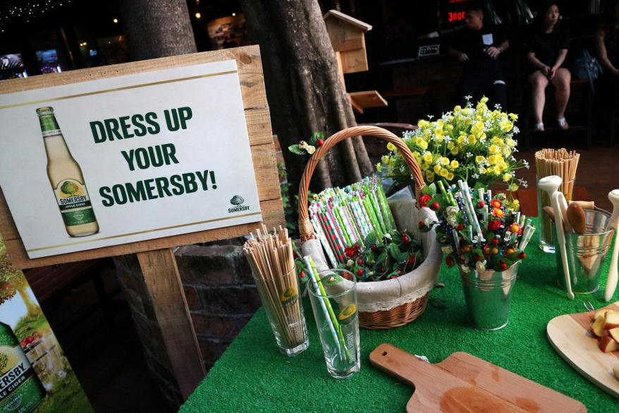 At the event, we got to dress up our Somersby cider