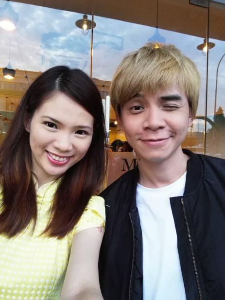 Mei Sze with her friend
