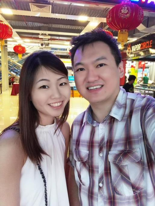 A pic with Lin Lin using the front camera with lots of background light