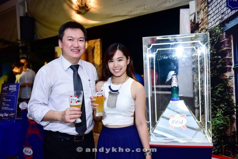 A pic with sweet Kronenbourg 1664 Senior Brand Executive Ke Hui