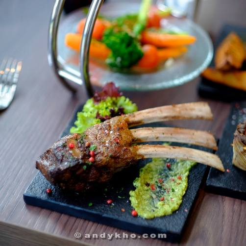 Loved the beautifully cooked lamb rack