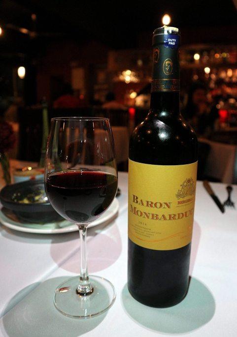 Paired withBaron Monbarduc wine