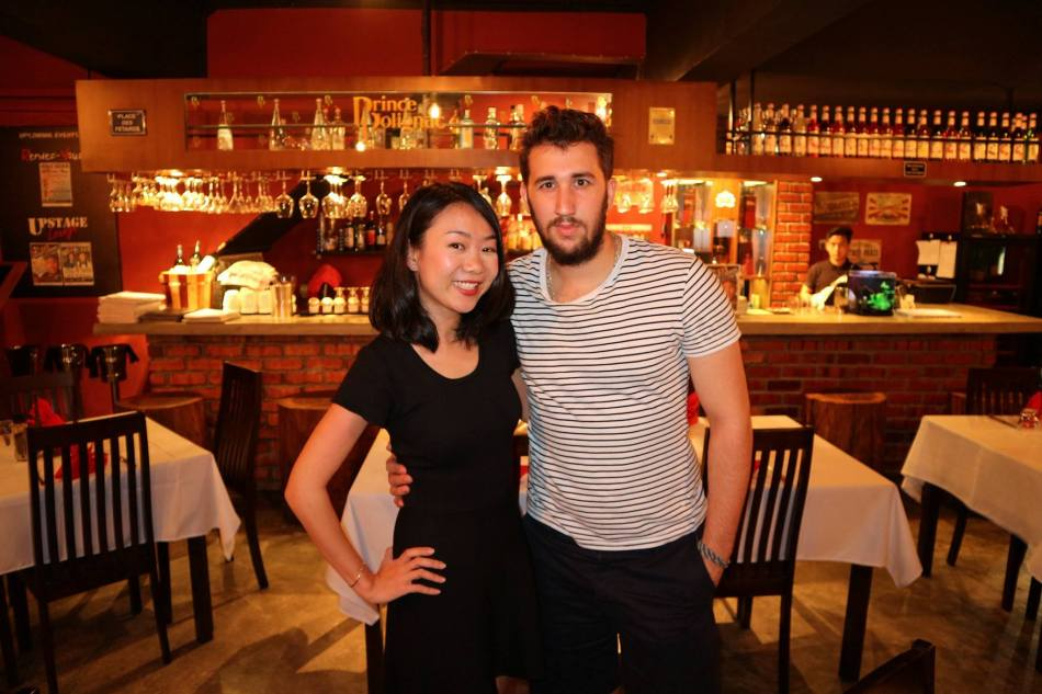 Wei Lynn with the young and good looking chef