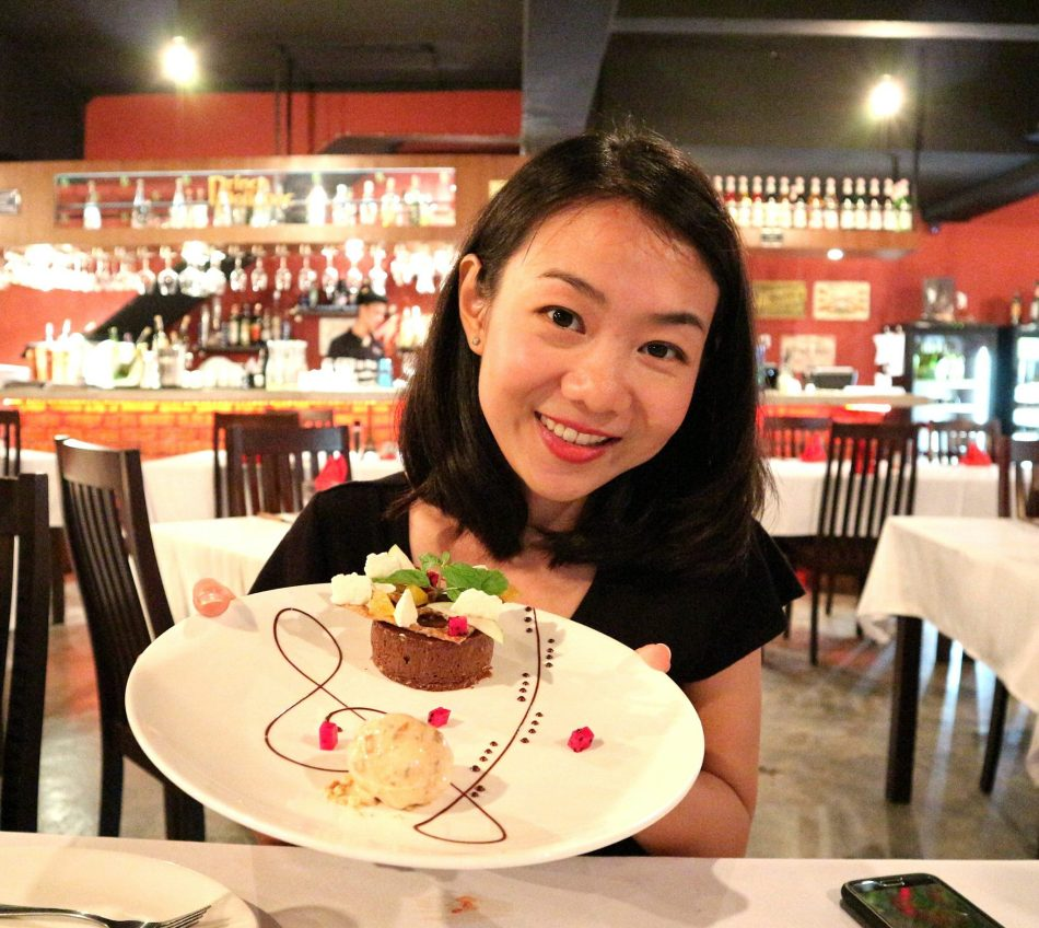 Wei Lynn like most girls, has a special dessert stomach! She will complain she's full before we finish the mains but then when the dessert arrives miraculously she can eat it!