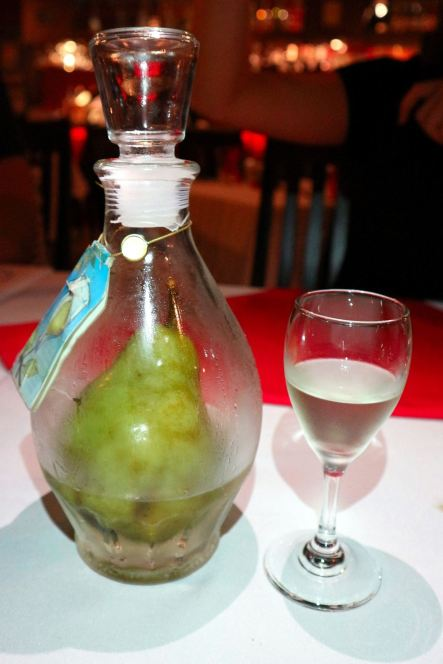 Any idea how the pear got into the bottle? This one was pretty strong and not for light drinkers!