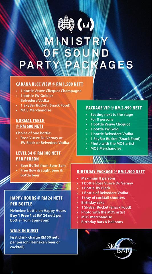 SkyBar Traders Hotel Entrance and Packages