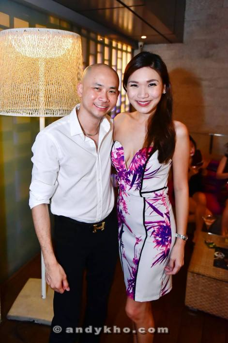 Andy Kho with popular food blogger Bangsar Babe