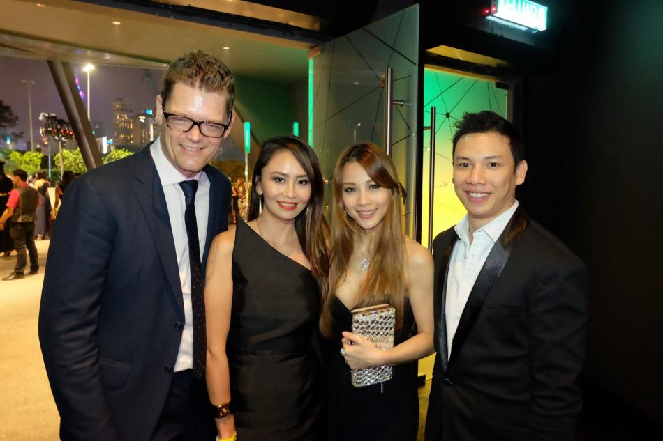 The gorgeous Hannah Tan and partner with Soren Ravn and Lavinne Yap