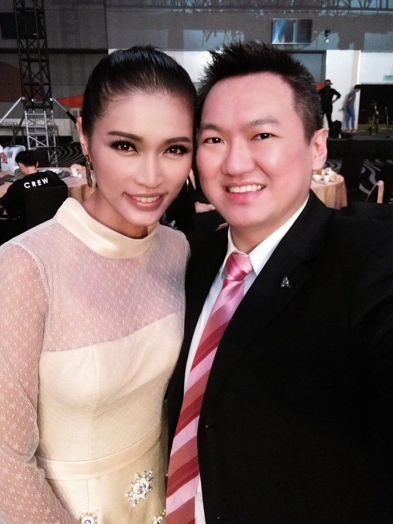 With Malaysian supermodel Amber Chia