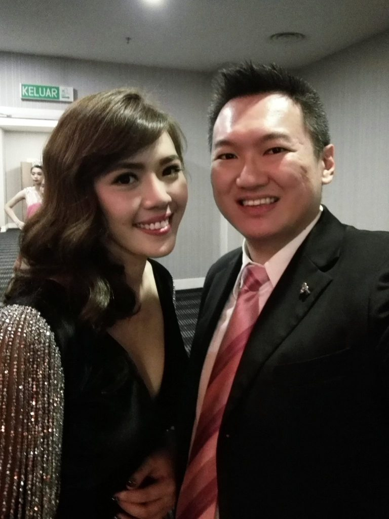 With Moo Yan Yee, National Director of the Ms Malaysia Global Beauty Queen 2016