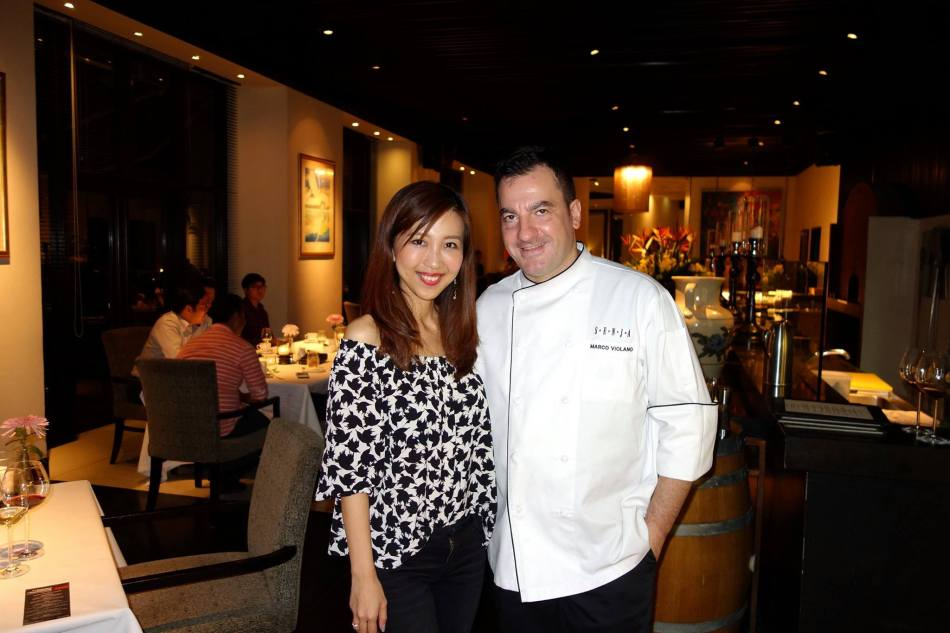 My partner in crime with Chef Marco. (This photo was NOT taken with the Leica D-Lux.)