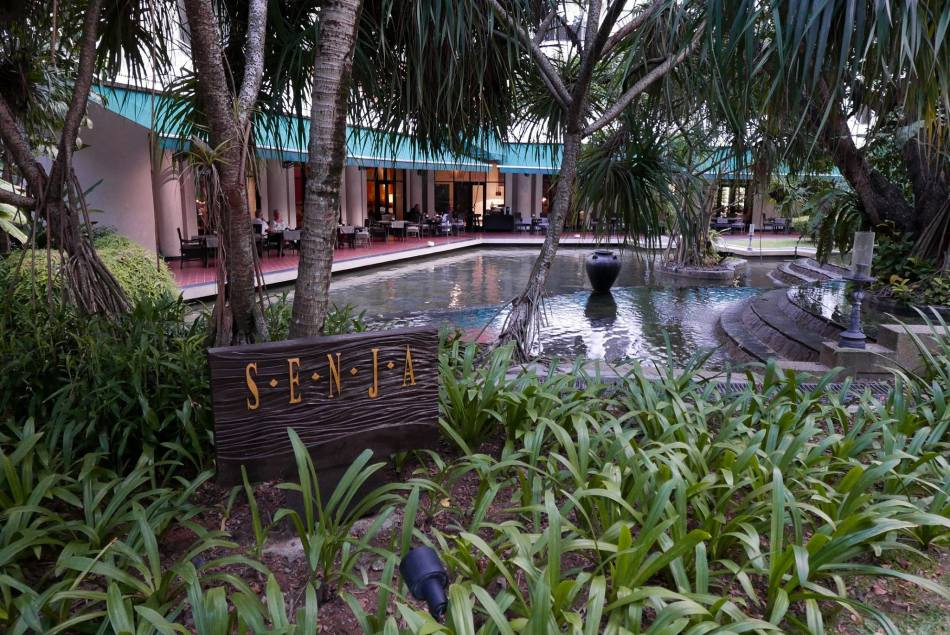 About 50 meters away and a short stroll across the garden is the new Senja which took over The Restaurant at The Club Saujana