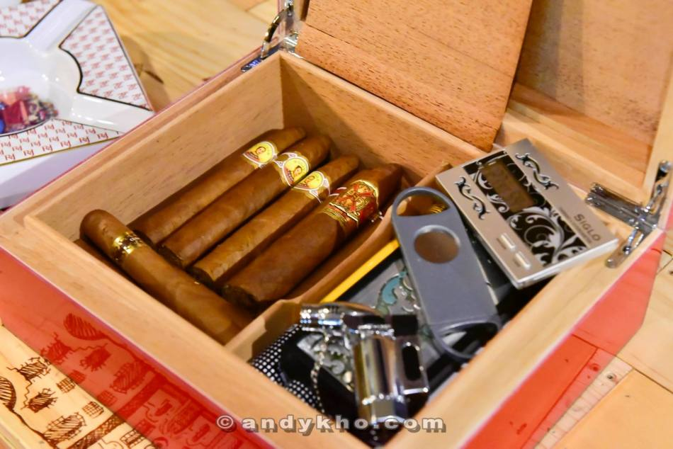 And if you fancy some cigars with your wine, there a selection of them as well (but please go enjoy them in the al fresco seating area)