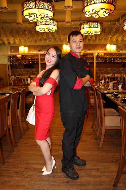 Elaine with Chef Choy