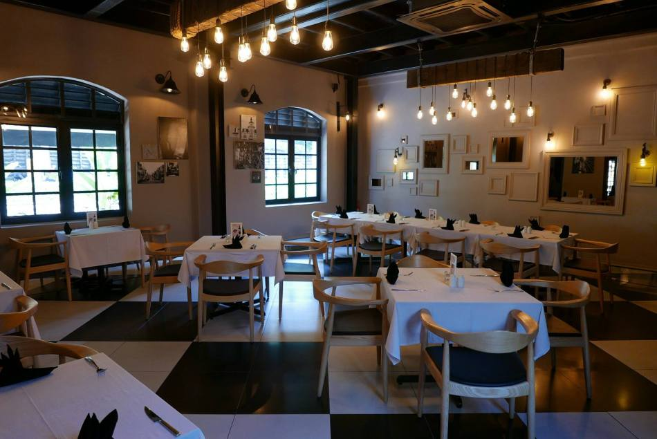 The main dining area