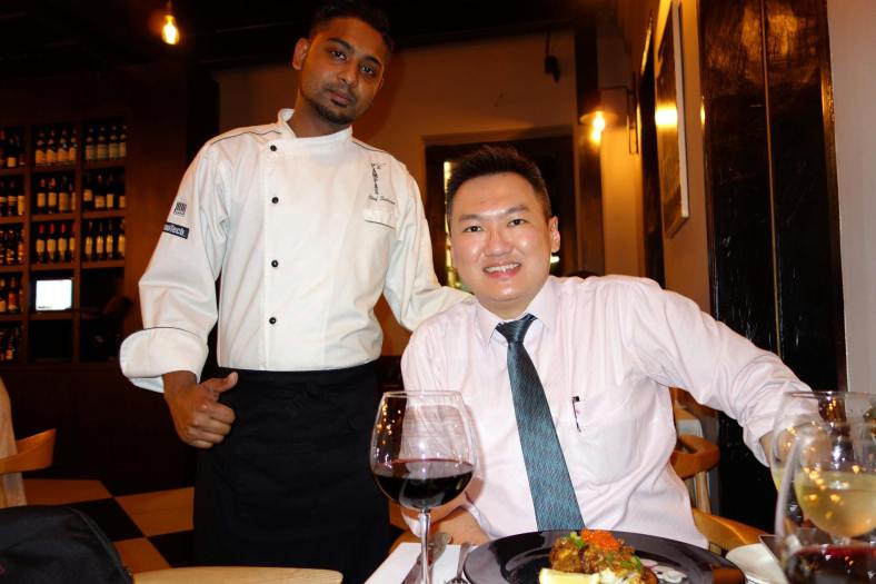 Apic with Chef Salman before starting the meal