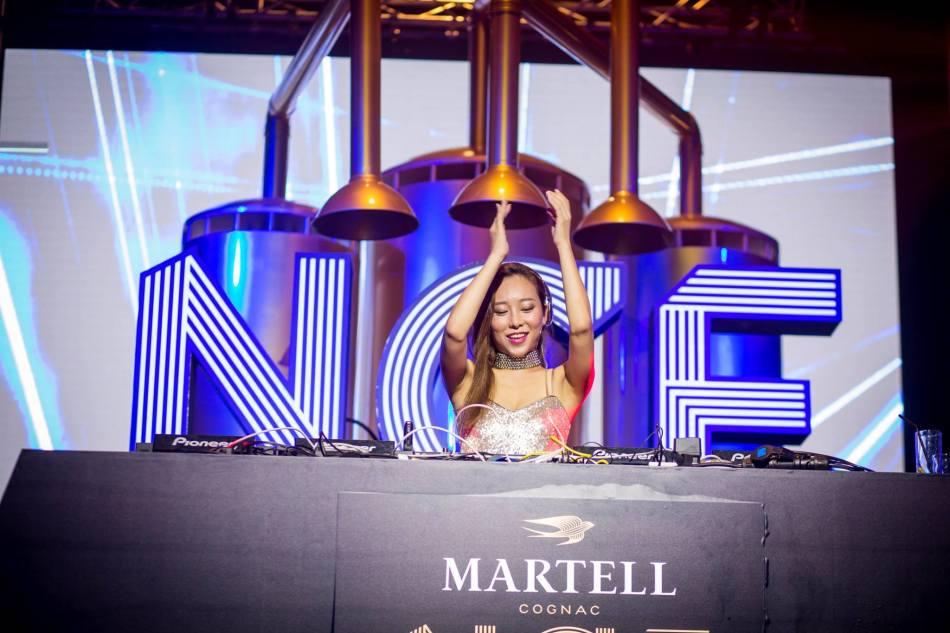 DJ Nikki on the decks