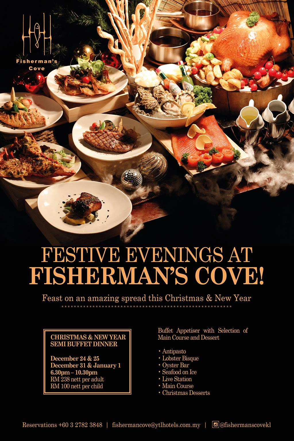 Christmas And New Year S Eve Dinners F Amp B Promotions In