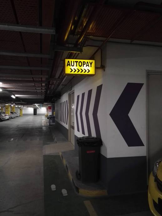 Clear signages to the autopay machines