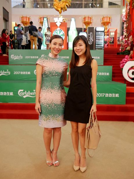 Wei Leng with Lynn the MC of the event