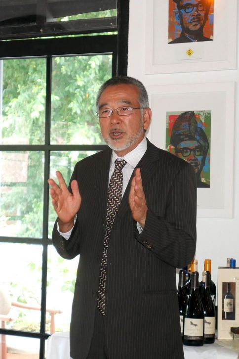 Welcome address by President of the 90 Plus Wine Club Jack Sakazaki