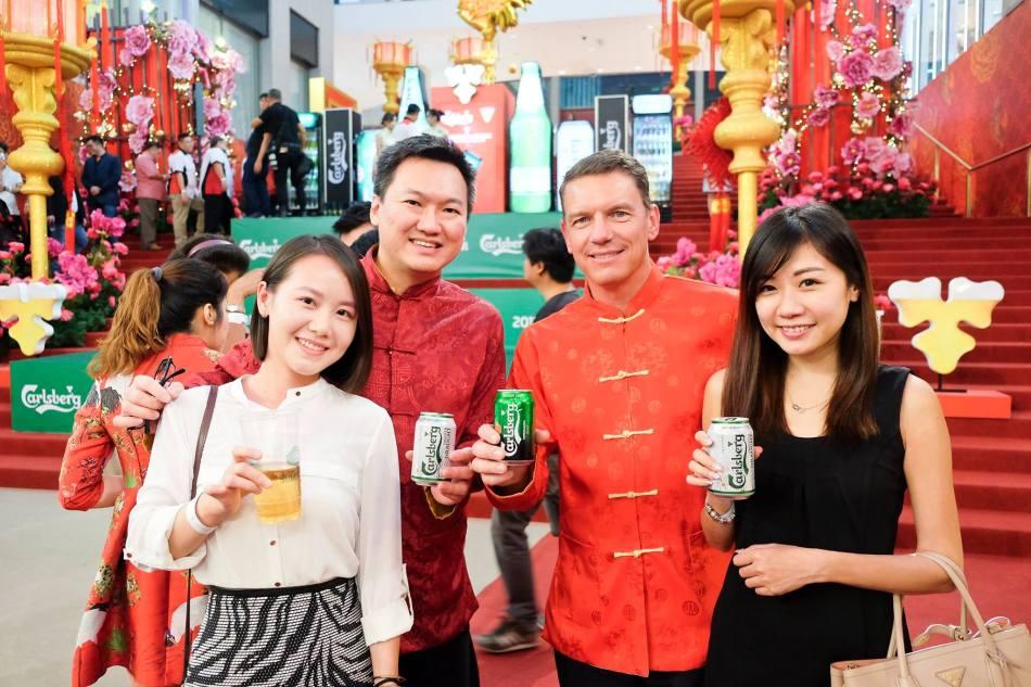 With Managing Director of Carlsberg Malaysia Lars Lehmann