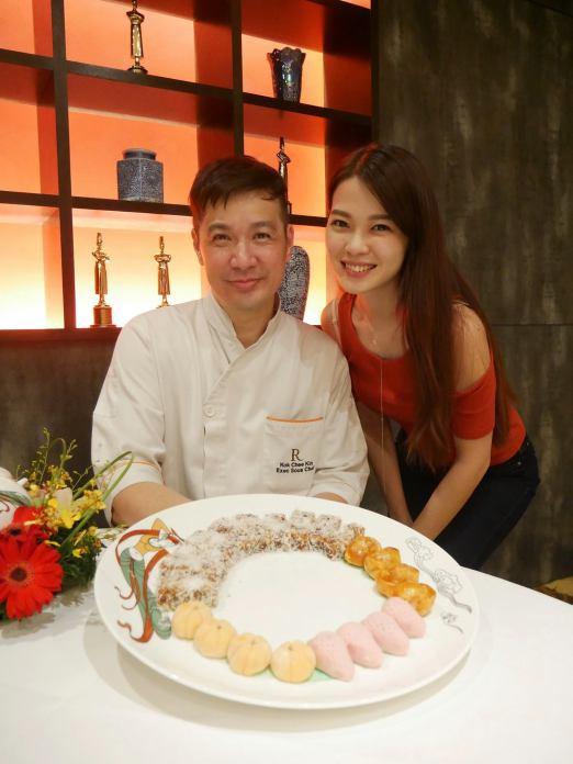 Joyce with Chef Kin