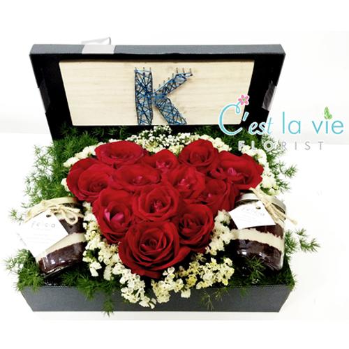FLOWER BOX WITH ALPHABET - [ Additional ] Alphabet -> RM 30/each