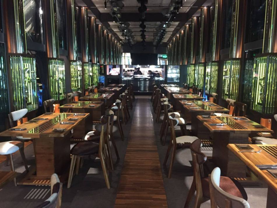 The very impressive and eye-catching interior of the restaurant