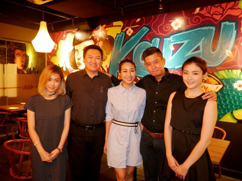 Us with Andrew Ong who is the the General Manager of Kouzu Malaysia and their two pretty staff