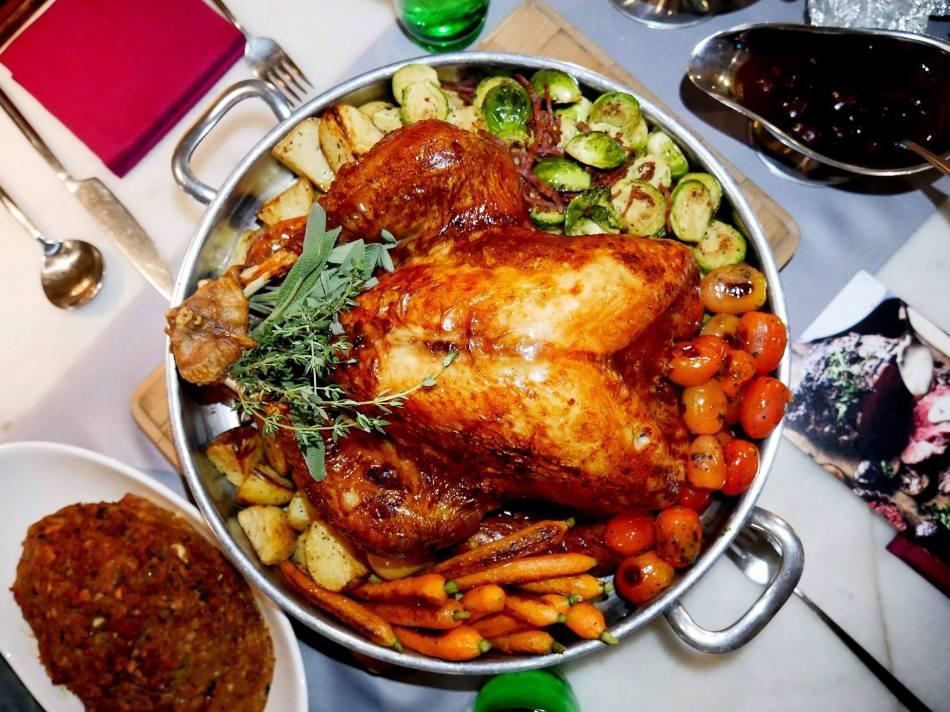 Roast turkey especially for Christmas and NYE