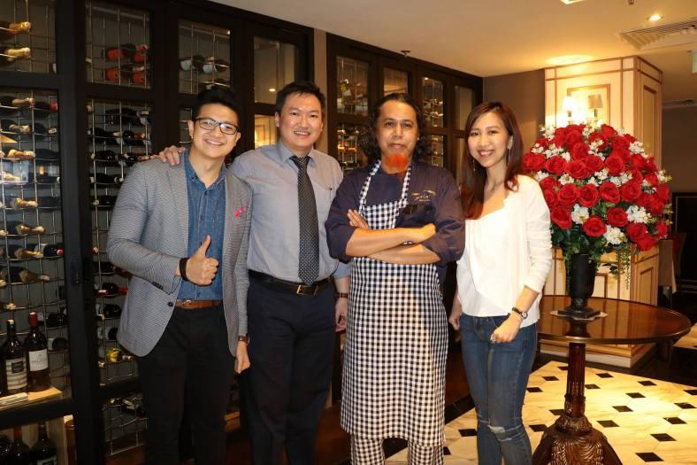 Us with Chef Azizan Shukri and Adam who is one of the proprietors of Savini
