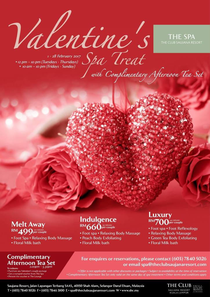 the spa saujana valentines day promo - Valentine Day Hotel Specials